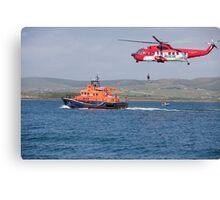 RNLI & Coast Guard Demo Canvas Print