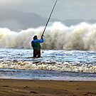 Shore Fishing Ballinskelligs Beach, Co Kerry by AlanJLanders