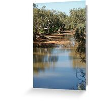 Still Flowing Greeting Card