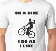 On A Bike Waving Unisex T-Shirt