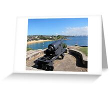 FIRING UP - CAMP COVE SYDNEY HARBOUR Greeting Card