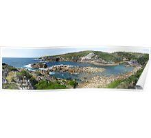 Panorama of Kianinny Bay, Tathra, Australia Poster