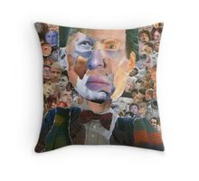 The Doctor Has Many Faces Throw Pillow