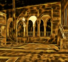 Beautiful courtyard with arches by hereswendy