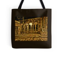 Beautiful courtyard with arches Tote Bag