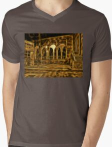 Beautiful courtyard with arches Mens V-Neck T-Shirt