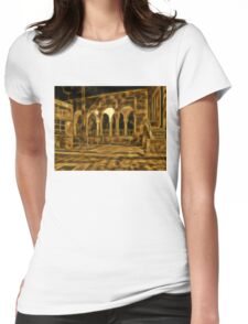 Beautiful courtyard with arches Womens Fitted T-Shirt
