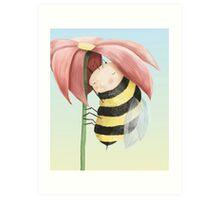 Sleepy Bee Art Print