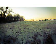 ice meadow burn Photographic Print