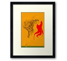 Hot Red Vestle Framed Print