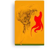 Hot Red Vestle Canvas Print