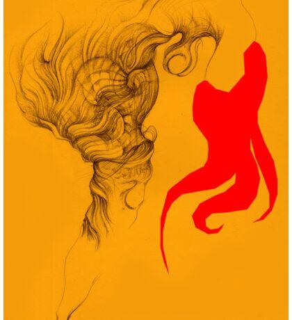 Hot Red Vestle Sticker