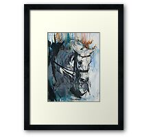 Dressage No.6 - Grey Stallion in Focus Framed Print