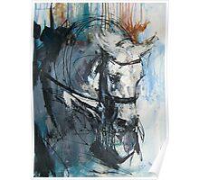 Dressage No.6 - Grey Stallion in Focus Poster