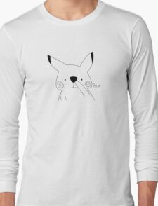Nose picking electric mouse Long Sleeve T-Shirt