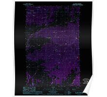 USGS Topo Map Washington State WA Mt Annie 242610 1988 24000 Inverted Poster