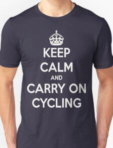 Keep Calm And Carry On Cycling T-Shirt