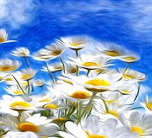 Summer Flowers Oil Painting by Fred Seghetti