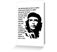 che guevara  design t-shirt Greeting Card
