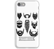 Field guide to beards - Various Beards iPhone Case/Skin