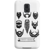 Field guide to beards - Various Beards Samsung Galaxy Case/Skin