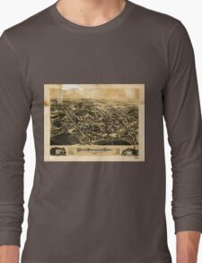 Panoramic Maps View of South Manchester Conn 1880 Long Sleeve T-Shirt