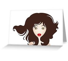 Beautiful face of a girl Greeting Card
