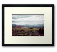 A Disrepaired Red Shack in countryside Hokkaido, Japan Framed Print