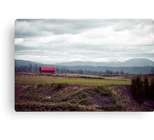 A Disrepaired Red Shack in countryside Hokkaido, Japan Canvas Print