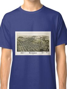 Panoramic Maps Meyersdale Pennsylvania Classic T-Shirt