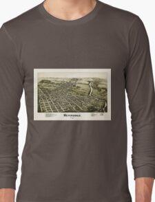 Panoramic Maps Meyersdale Pennsylvania Long Sleeve T-Shirt