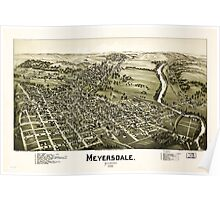 Panoramic Maps Meyersdale Pennsylvania Poster