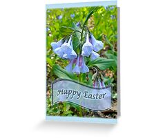 Easter Card - Virginia Bluebells Greeting Card
