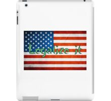 Legalize It American Flag 2 iPad Case/Skin