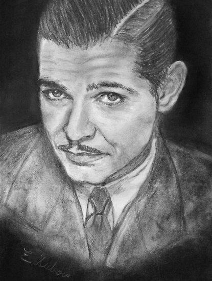 Clark Gable -  young by Elisabeth Dubois