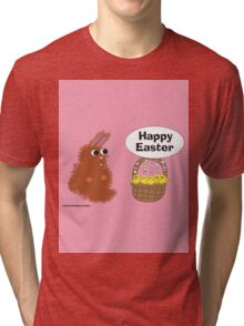 Bunny and Chicks Easter Tri-blend T-Shirt