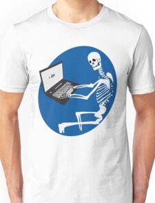 Skeleton Social Media Unisex T-Shirt