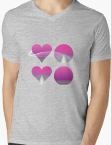Amour Minimalistica* Mens V-Neck T-Shirt