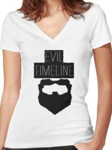 Evil Timeline Women's Fitted V-Neck T-Shirt