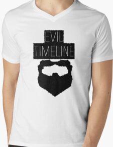 Evil Timeline Mens V-Neck T-Shirt