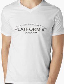 Please Return to Platform 9 3/4 Mens V-Neck T-Shirt