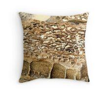 Caves Beach - Honeycomb Rock Throw Pillow