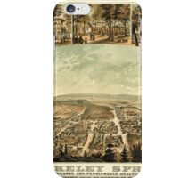 Panoramic Maps Berkeley Springs a celebrated and fashionable health resort county seat of Morgan Co W Va iPhone Case/Skin