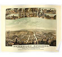 Panoramic Maps Berkeley Springs a celebrated and fashionable health resort county seat of Morgan Co W Va Poster