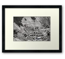 Some people live in caves - Turkey Framed Print