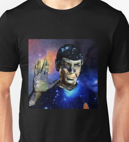 """Into The Darkness"" LLAP Leonard Nimoy, Spock, Star Trek Unisex T-Shirt"