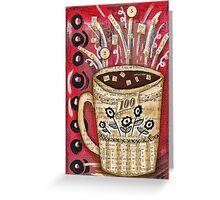 Adding Caffeine Greeting Card