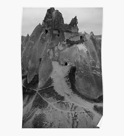 Cave castle - Capadocia - Turkey Poster