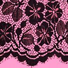 Black lace on pink by BettyBanana