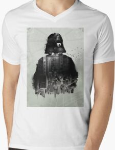 Inspired Poster by Star Wars III Mens V-Neck T-Shirt